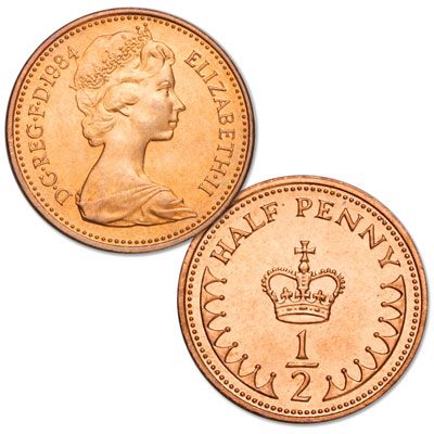 Image for 1984 Great Britain Bronze 1/2 Penny Elizabeth II from Littleton Coin Company