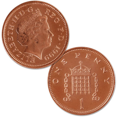 Image for 1998-2008 Great Britain Copper Plated Steel Penny from Littleton Coin Company