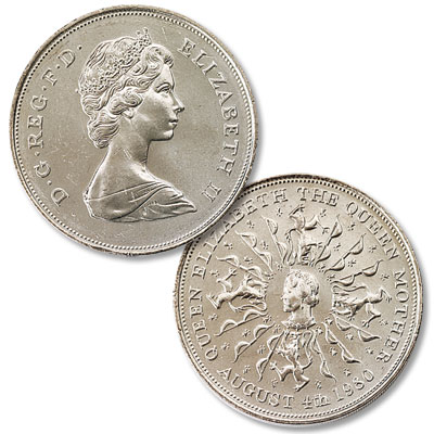 Image for 1980 Great Britain Crown - 80th Birthday of Queen Mother from Littleton Coin Company