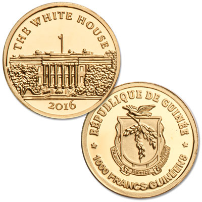 Image for 2016 Guinea .5g Gold White House from Littleton Coin Company