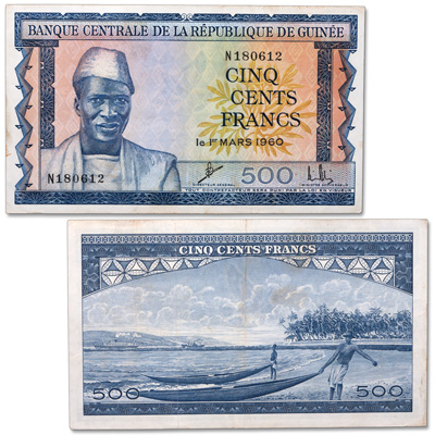 Image for 1960 Guinea 500 Francs, P#14 from Littleton Coin Company