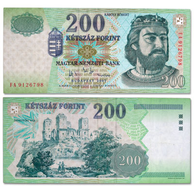 Image for 2000-2007 Hungary 200 Forint Note from Littleton Coin Company