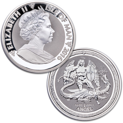 Image for 2016 Isle of Man 1 oz. Silver Angel from Littleton Coin Company