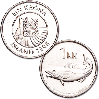 Image for 1989-2011 Iceland 1 Krona from Littleton Coin Company