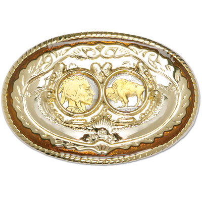 Image for Buffalo Nickel Gold-Plated Belt Buckle from Littleton Coin Company