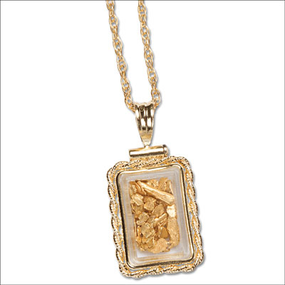 Image for Gold Flake Necklace from Littleton Coin Company