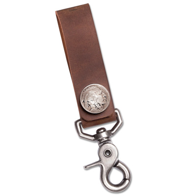 Image for 1913-1938 Buffalo Nickel Key Loop with Pouch from Littleton Coin Company