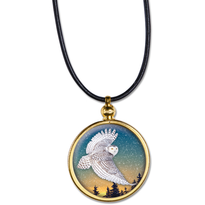 Image for Snowy Owl Native American Dollar Pendant from Littleton Coin Company