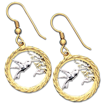 Image for Hummingbird Cut Coin Earrings from Littleton Coin Company