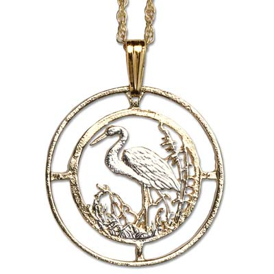 Image for Stork Cut Coin Necklace from Littleton Coin Company