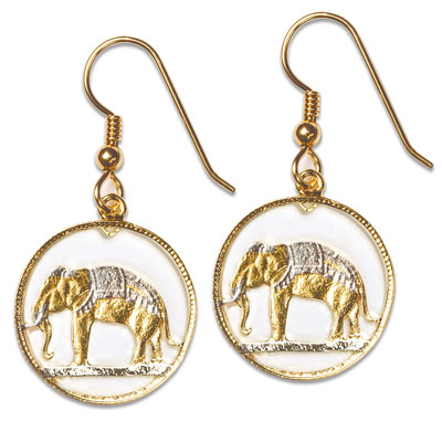 Image for Elephant Cut Coin Earrings from Littleton Coin Company