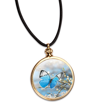 Image for Blue Butterfly Pendant from Littleton Coin Company