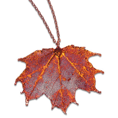 Image for Real Maple Leaf Necklace from Littleton Coin Company