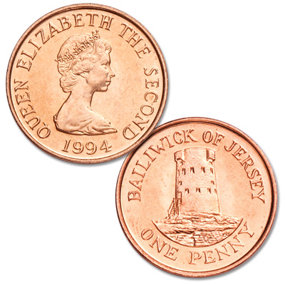 Image for 1994-1997 Jersey 1 Penny from Littleton Coin Company