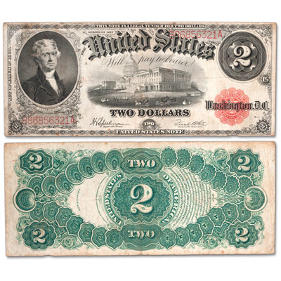 Image for 1917 $2 Legal Tender Note from Littleton Coin Company