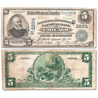 Image for 1902 $5 National Bank Note from Littleton Coin Company
