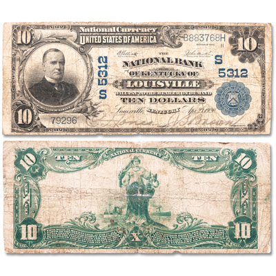 Image for 1902 $10 National Bank Note from Littleton Coin Company