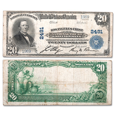 Image for 1902 $20 National Bank Note from Littleton Coin Company