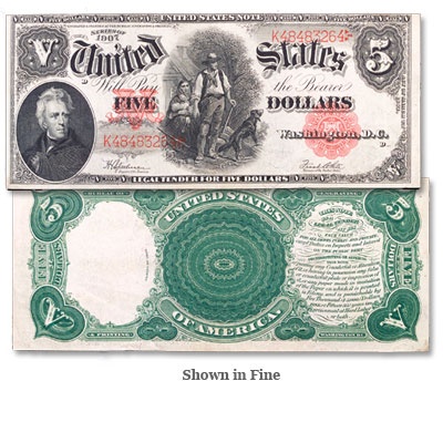 Image for 1907 $5 Legal Tender Note from Littleton Coin Company
