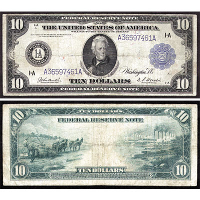Image for 1914 $10 Federal Reserve Note from Littleton Coin Company
