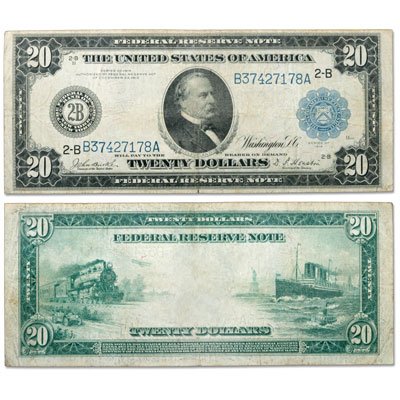 Image for Series 1914 $20 Large-Size Federal Reserve Note from Littleton Coin Company