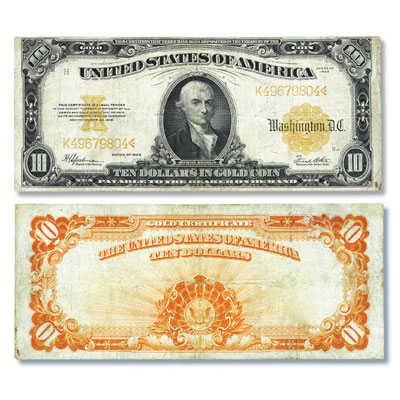 Image for Series 1907-1922 $10 Large-Size Gold Certificate from Littleton Coin Company