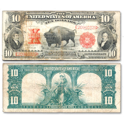 Image for 1901 $10 Large-Size Legal Tender Note, Bison from Littleton Coin Company