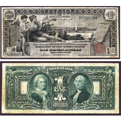 Image for Series 1896 $1 Silver Certificate Educational from Littleton Coin Company