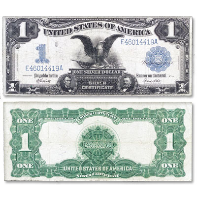 Image for 1899 $1 Large-Size Silver Certificate, Black Eagle from Littleton Coin Company