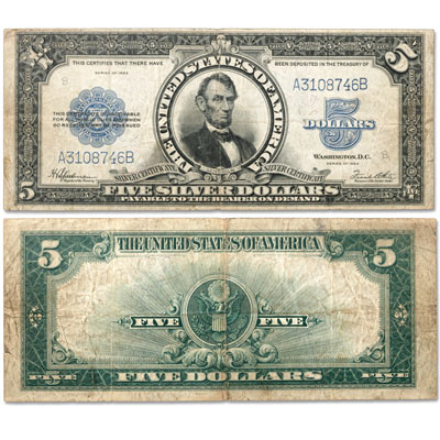 Image for Series 1923 $5 Large Size Silver Certificate, Porthole from Littleton Coin Company