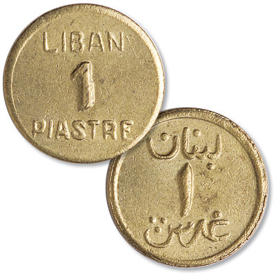Image for No Date (1941) Lebanon Brass 1 Piastre from Littleton Coin Company