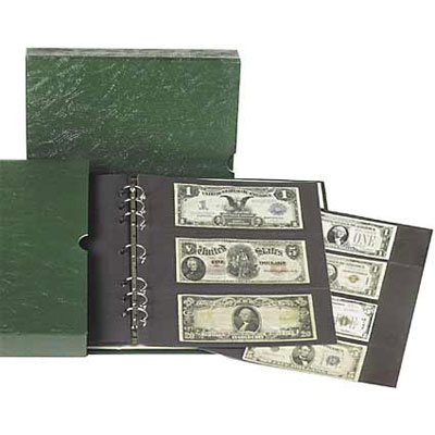 Image for Paper Money Album with Slipcase, 10 Each Small Size and Large Note Pages from Littleton Coin Company
