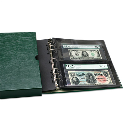 Image for Paper Money Binder with Slipcase (pages not included) from Littleton Coin Company