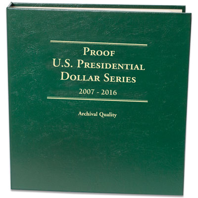 Image for 2007-2016 Presidential Dollar Proof Album from Littleton Coin Company