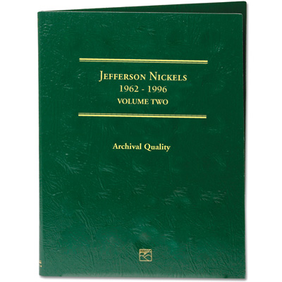 Image for 1962-1996 Jefferson Nickel Folder from Littleton Coin Company