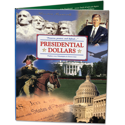 Image for 2007-2016 Presidential Dollar P&D Color Folder from Littleton Coin Company