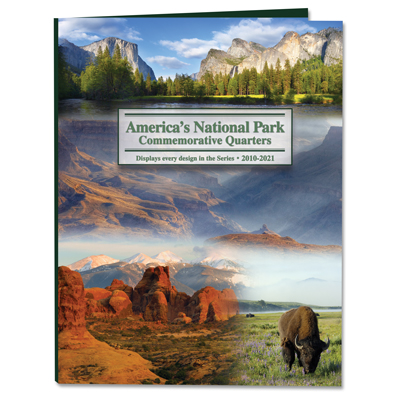 Image for 2010-2021 America's National Park Quarter Series Colorful Folder from Littleton Coin Company