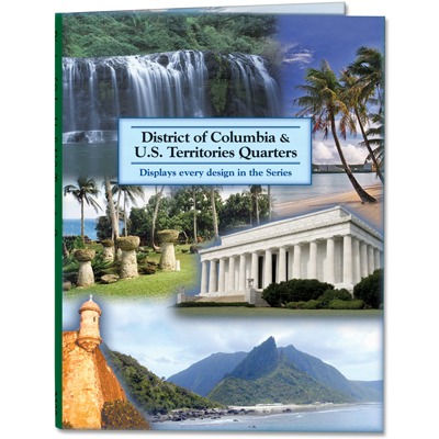 Image for 2009 D.C. & U.S. Territories Colorful Quarter Folder from Littleton Coin Company