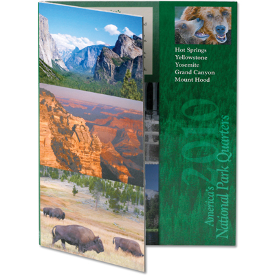 Image for 2010 America's National Park Quarter Series Colorful Folder from Littleton Coin Company
