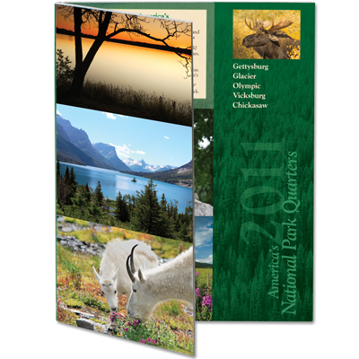 Image for 2011 America's National Park Quarter Series Colorful Folder from Littleton Coin Company