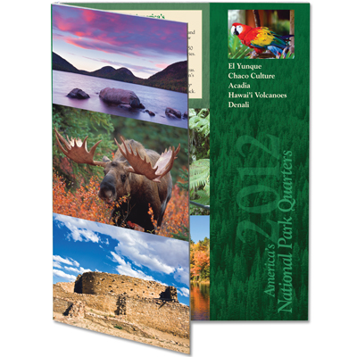 Image for 2012 America's National Park Quarter Series Colorful Folder from Littleton Coin Company