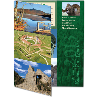 Image for 2013 America's National Park Quarter Series Colorful Folder from Littleton Coin Company