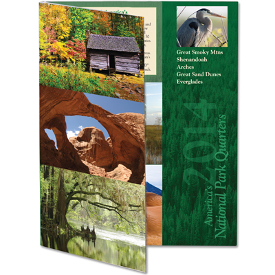 Image for 2014 America's National Park Quarter Series Colorful Folder from Littleton Coin Company