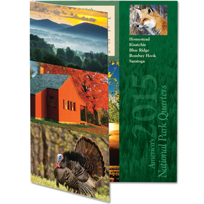 Image for 2015 America's National Park Quarter Series Colorful Folder from Littleton Coin Company