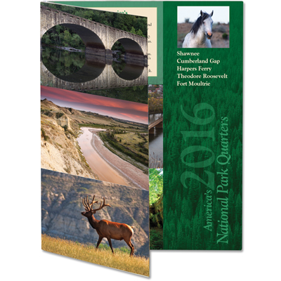 Image for 2016 America's National Park Quarter Series Colorful Folder from Littleton Coin Company