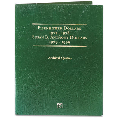 Image for 1971-1999 Susan B. Anthony & Eisenhower Dollars Folder from Littleton Coin Company