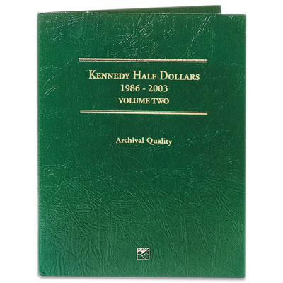 Image for 1986-2003 Kennedy Half Dollars Folder from Littleton Coin Company
