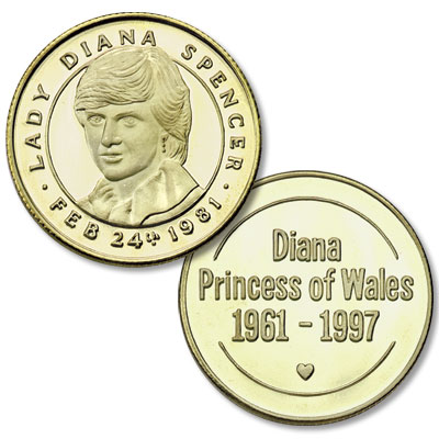 Image for Princess Diana Bronze Medal from Littleton Coin Company