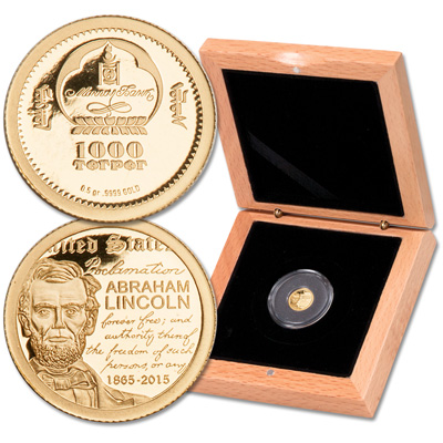 Image for 2015 Mongolia 1/2 gram Gold Lincoln Togrog from Littleton Coin Company