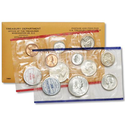 Image for 1960 U.S. Mint Set (10 Coin), Uncirculated from Littleton Coin Company
